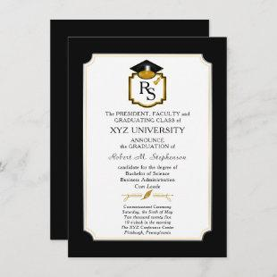 Elegant College | University Grad Announcement