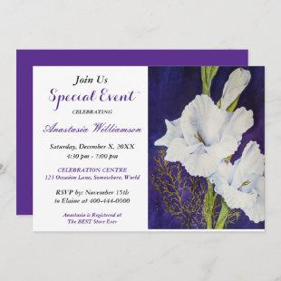 ELEGANT EVENING PARTY EVENT INVITE