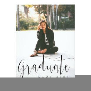 Elegant Graduation Photo Announcement / Invitation
