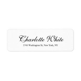 Elegant Professional Classical Plain Black White Label