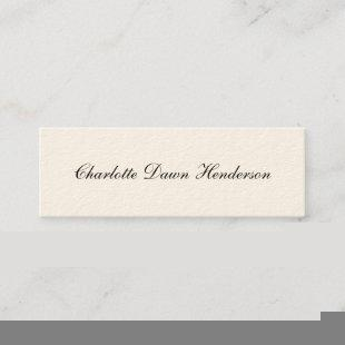 Elegant script graduation announcement name card