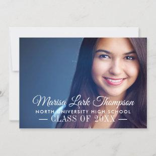 Elegant Script Monogram | 2020 Photo Graduation Announcement