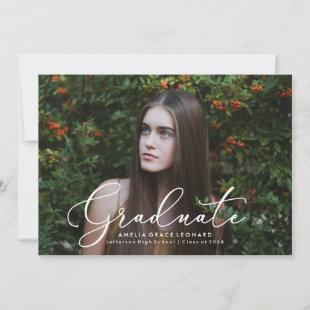 Elegant Script | Photo Graduation Announcements