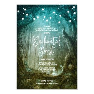 Enchanted Forest Fairy Lights Prom Invitations