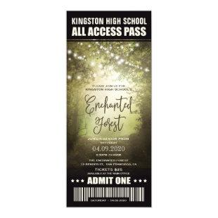 Enchanted Forest Prom Ticket Invitations