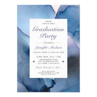 Ethereal Wave Graduation Party Invitations V06