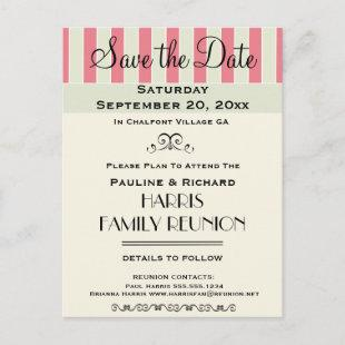Family Reunion or Party Cream Rose Save the Date Announcement Postcard