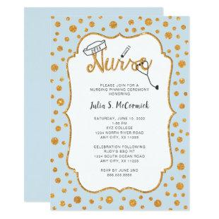 Faux Gold Dot Nurse pinning, changeable color Invitation