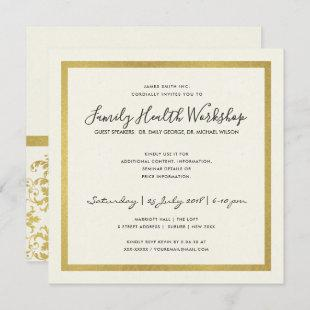 FAUX GOLD WHITE DAMASK CLASSIC WORKSHOP EVENT
