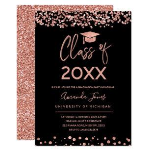 FAUX ROSE GOLD Graduation Party Invitation