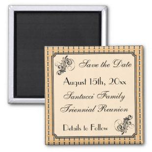 Faux Vintage Family Reunion Save the Date Magnet