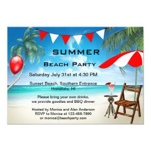 Festive Summer Beach Party Invitation