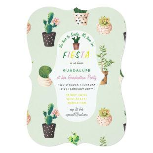 Fiesta Graduation Invitations Desert Cacti