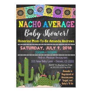 Fiesta Nacho Average Baby Shower Invitation
