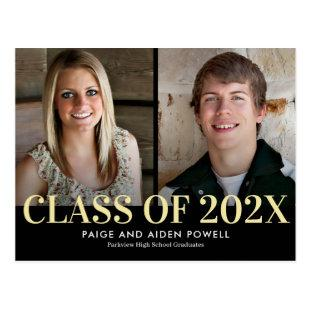 Finest Year Double Graduation Announcement Postcar Postcard