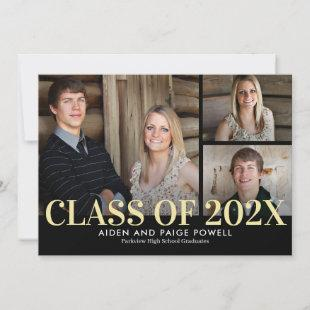Finest Year Editable Color Graduation Invitation