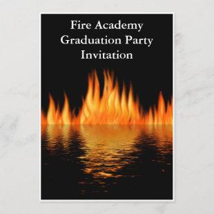 Fire Academy Graduation Party Invitation Fireman