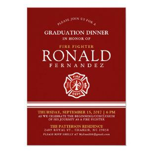 Fire Fighter Graduation Dinner | Event Invitation