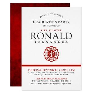 Fire Fighter Graduation Party | Event Invitation