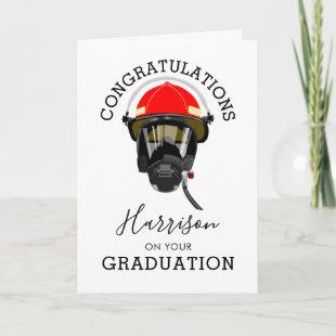 Fire Fighter Graduation   Passing Out Card