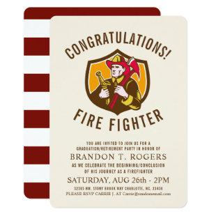 Fire Fighter Retro | Graduation Announcement