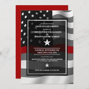 Firefighter Academy Graduation Party Invitation
