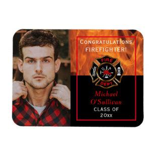 Firefighter Graduation Announcement Magnet