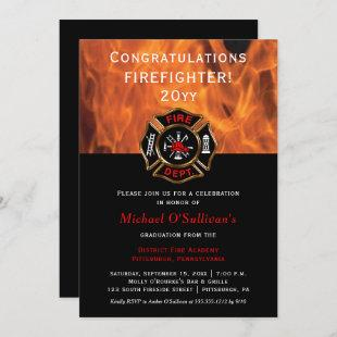 Firefighter Graduation Announcement | Party