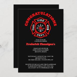 Firefighter Graduation Announcement Party