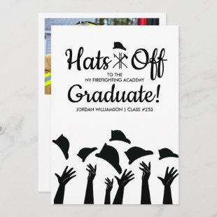 Firefighting Academy Grad Photo Graduation Party Invitation