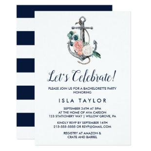 Floral Anchor | Summer Let's Celebrate Invitation