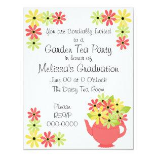 Flowers in a Teapot Invitation