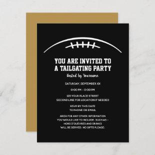 Football Tailgating Party - black gold