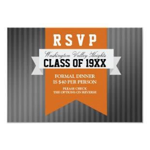 Formal Modern Class Reunion RSVP Invitation