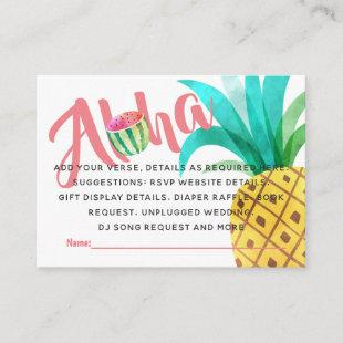 Fruity Tropical Shower Details Insert - Wording