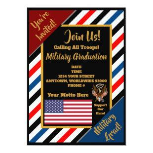 Fully Customizable Military Invitations
