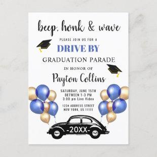 Funny Class of 2021 DRIVE BY Graduation Party Postcard