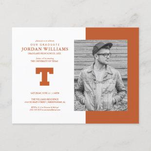 Future University of Texas Graduate Announcement Postcard