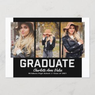 Gallery Multi Photo Beveled Graduate Invitation