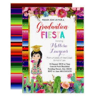 Girl Graduation Party Fiesta Invitation