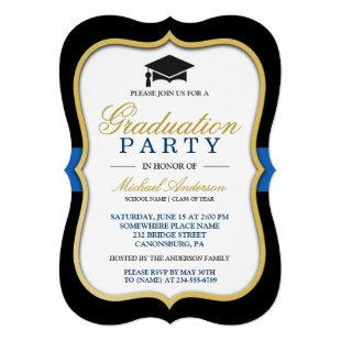 Gold Bracket Frame Modern 2021 Graduation Party Invitation