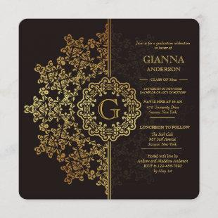 Golden Impression Graduation Invitation
