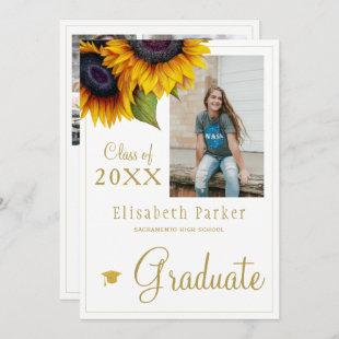 Golden sunflowers PHOTO collage graduation party I
