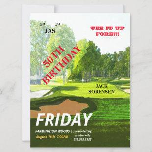 Golf Lover Sport Theme VIP Ticket Birthday Party