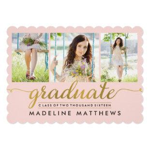 Graceful Script EDITABLE COLOR Graduation Invite