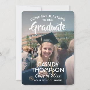 Graduate 2 Photo High School or College Graduation Announcement