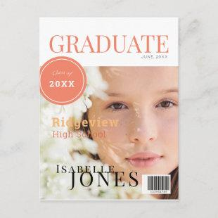 Graduate Magazine Photo Graduation Announcement Postcard
