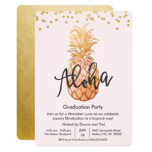 Graduation Aloha Luau Party Invitation