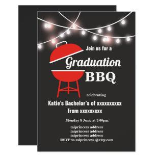 Graduation BBQ invitation, chalkboard background Invitation