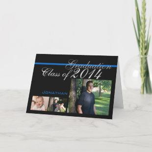 Graduation Class of 2014 Tri Photo Black Card